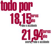 Con Kalibo, vehículo de sustitución por accidente, robo o averia por 18,15 euros al año